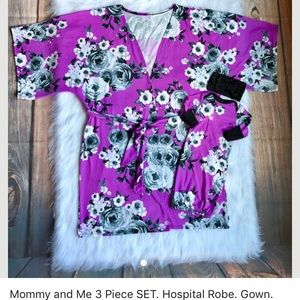 Other - Mommy & me robe & gown w/matching bow. Like new.